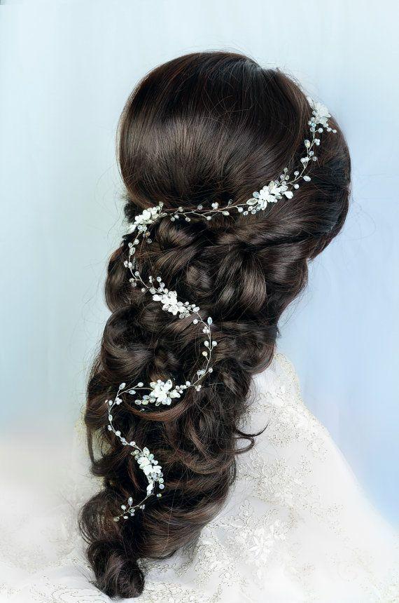 bridal hair vine wedding hair vine gold hair vine by TopGracia
