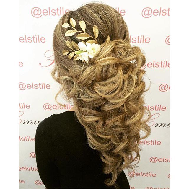 wedding hair at Elstile | свадебная причёска в Elstile #elstil...