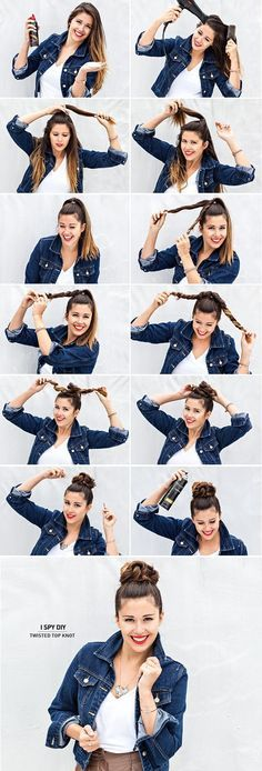 35 Sexy and Easy Bun Hairstyle Tutorials For You | hercanvas.com/...