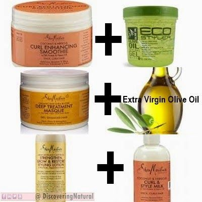 3 SheaMoisture HACKS that will save your natural hair Read how to mix them: d...