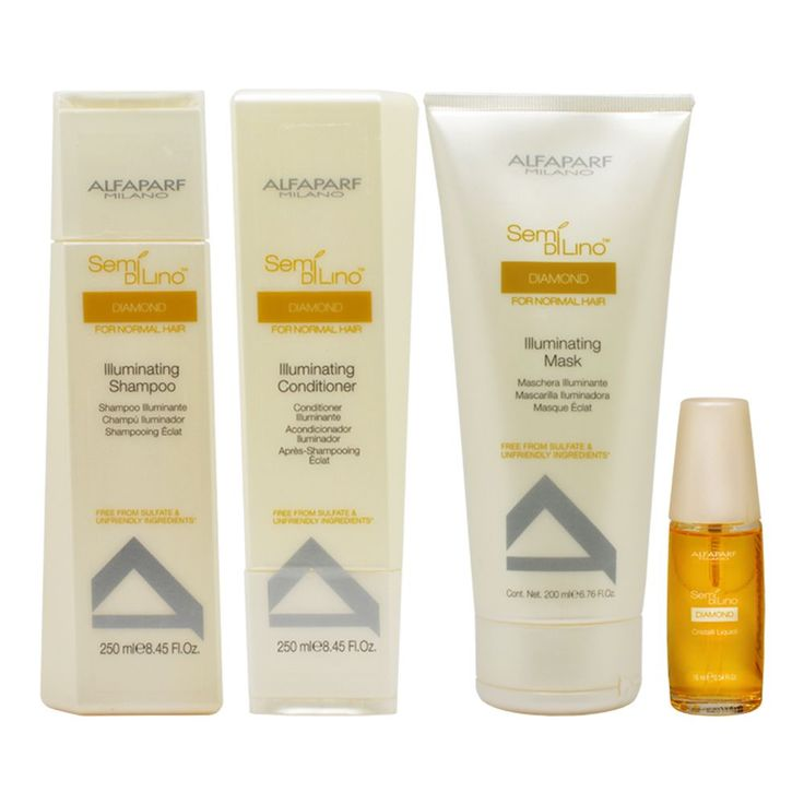 Alfaparf Semi Di Lino Diamond Illuminating 4-piece Hair Care Set (4-piece Set)