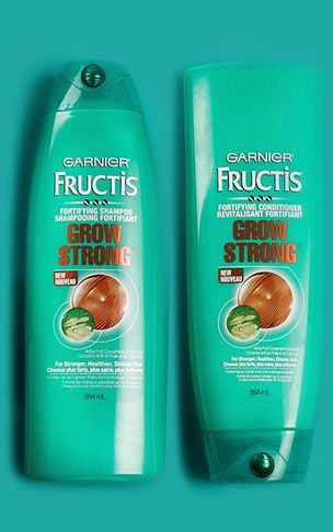 Get 10X stronger hair with the Grow Strong hair care range from Garnier Fructis....