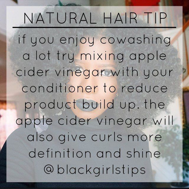 Natural hair tip - cowash substitute