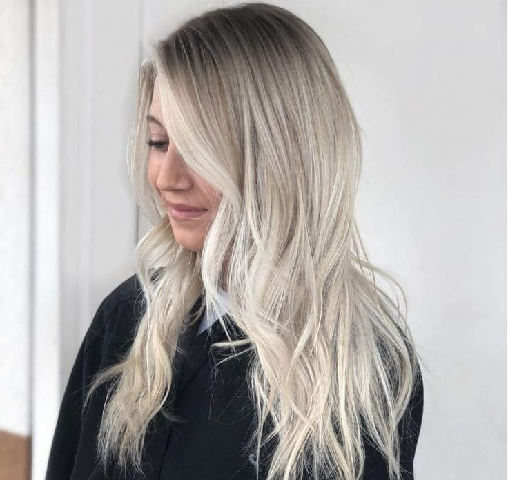 Darker roots complement ash blonde hair beautifully! #ashblonde #blondehair #hai...