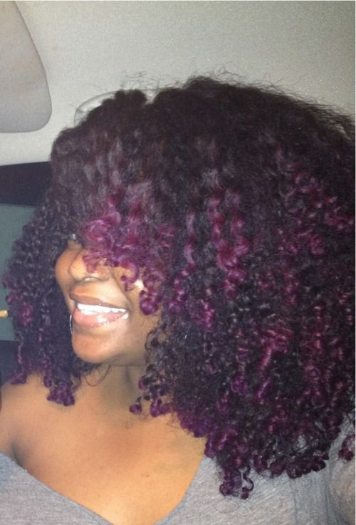 Purple Natural Curls - To learn how to grow your hair longer click here - blackh...