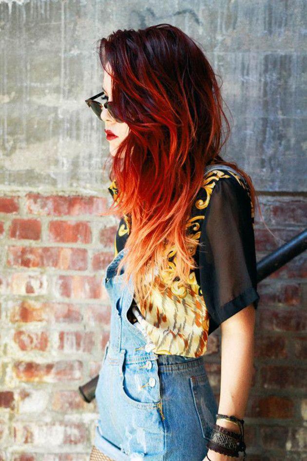 14 photos de cheveux feu et flamme, la nouvelle tendance qui enflamme le web ! -...