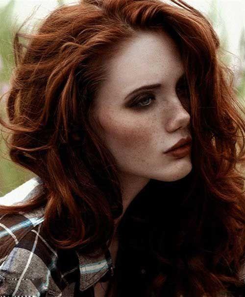 6.Dark Auburn Hair                                                       …