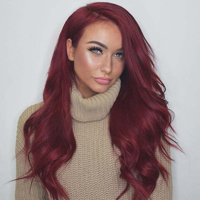 Red Hair Color вreyт тe ☾♡ Beauty Haircut Home
