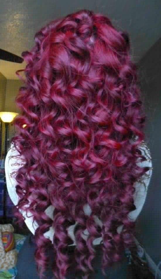 Red Hair Color Deep Red Hair Wine Colored Hair Curly Hair Long