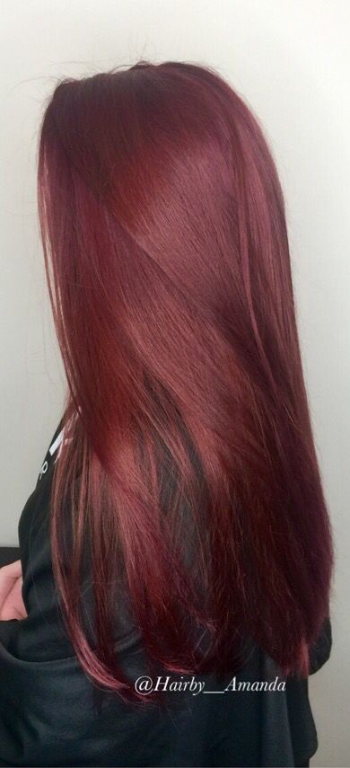 Goldwell haircolor rv @ all . Red violet hair