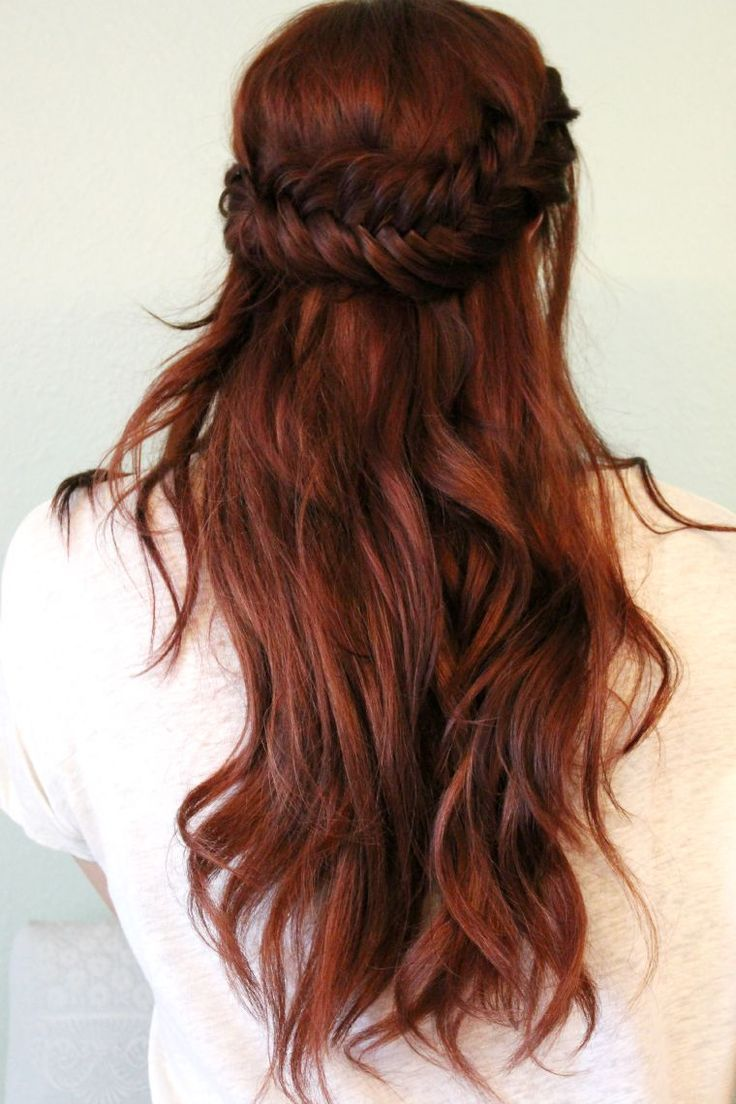 Red Hair Color Half Up Fishtail Hair Tutorial Madison Reed Hair