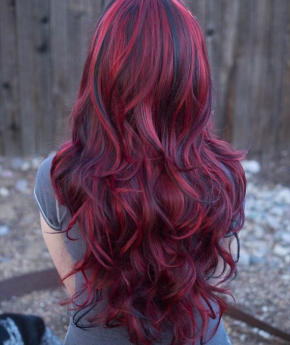 Red Hair Color Lucy Fiery Red Long Wavy Wig With Lowlights By