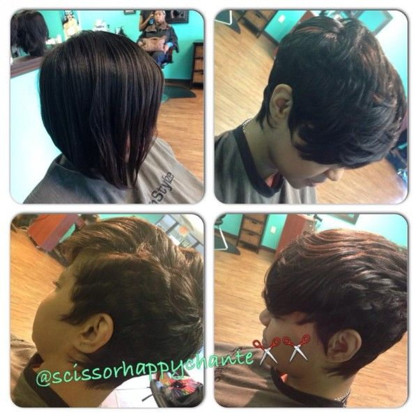Before And After By @scissorhappychante - www.blackhairinfo... #haircut #transfo...