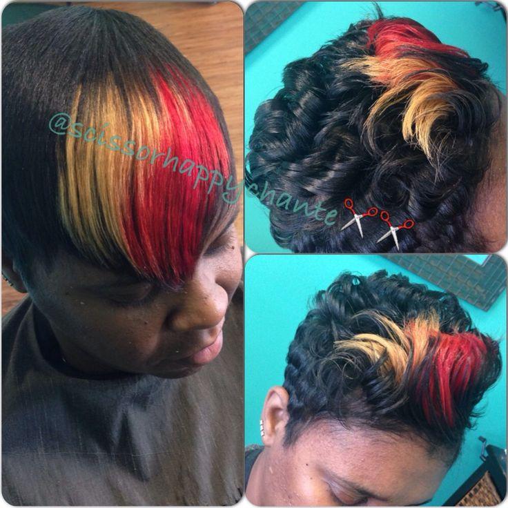 Custom Color @scissorhappychante - www.blackhairinfo... #customcolor #haircolor