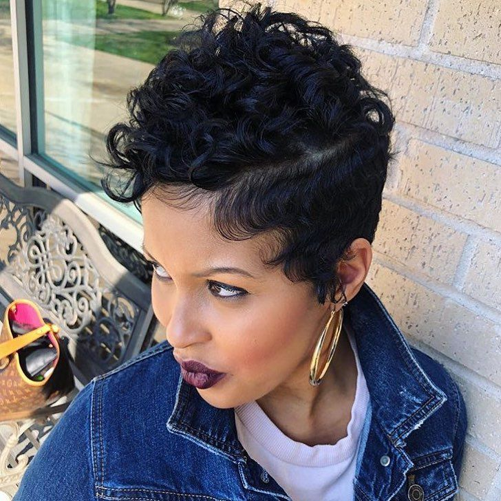Pixie with soft curls @khimandi - blackhairinformat...