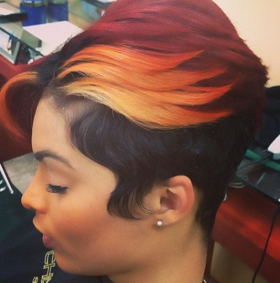 Unique Color @SalonChristol - www.blackhairinfo... #haircolor