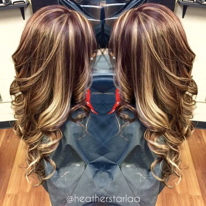 Trendy Hair Color Highlights All Over Blonde Highlight With A
