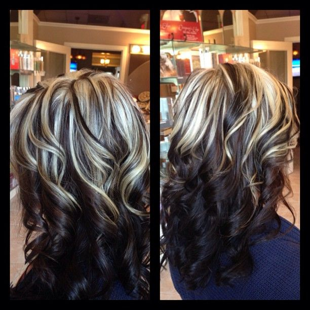 Trendy Hair Color Highlights All Over Color With Fun Chunky