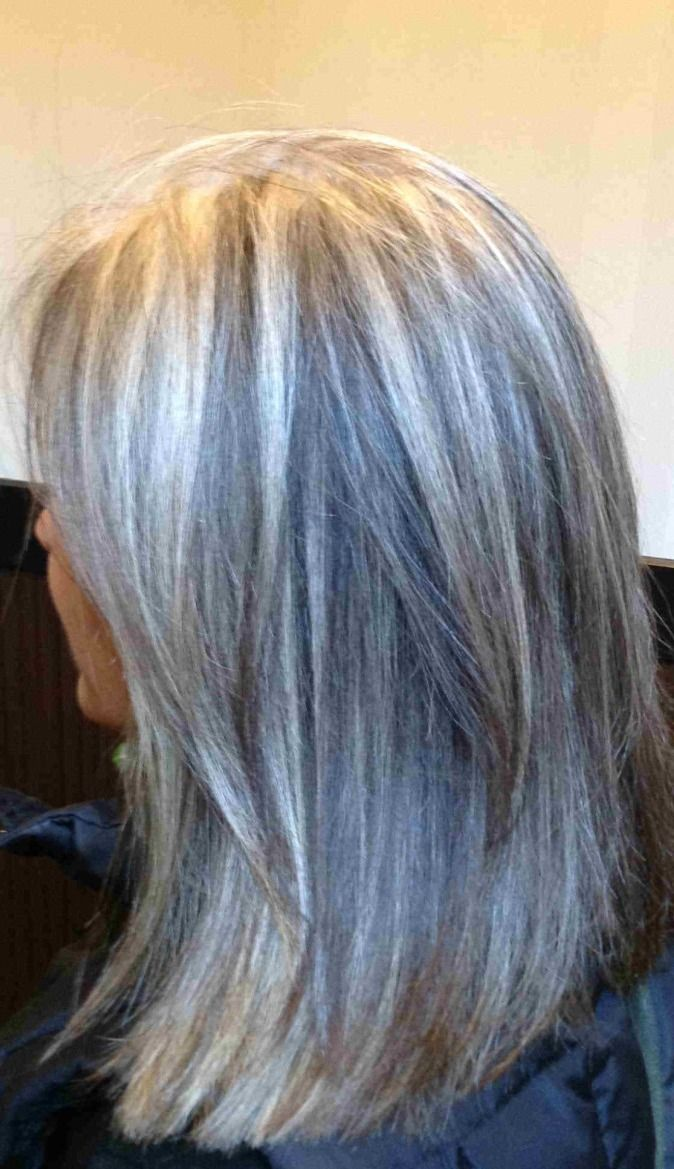 Trendy Hair Color Highlights Blonde Highlights For Gray Hair