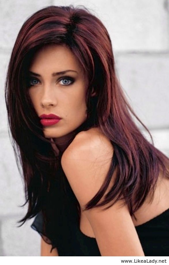 Trendy Hair Color Highlights Brunette With Red Highlights