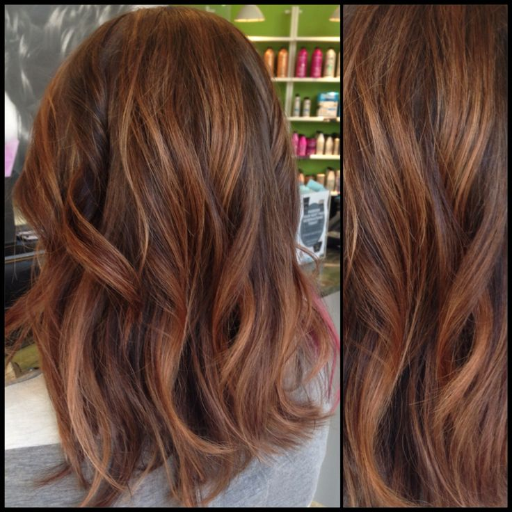 Trendy Hair Color Highlights Caramel And Brown Hair With Rose