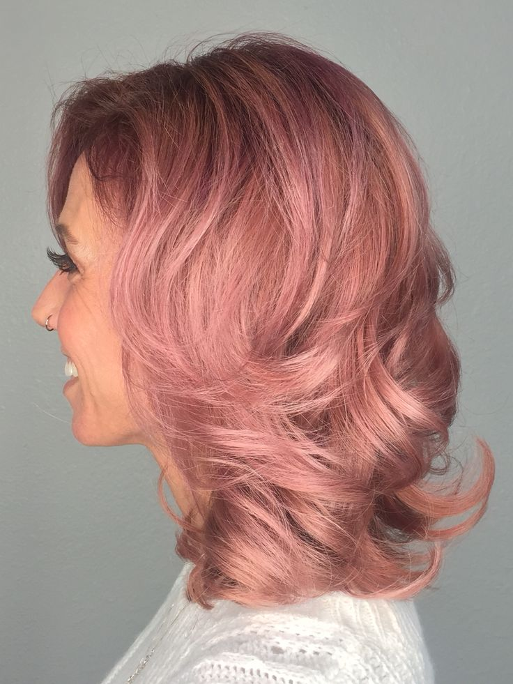 Trendy Hair Color Highlights Dusty Roserose Gold With A Rooted