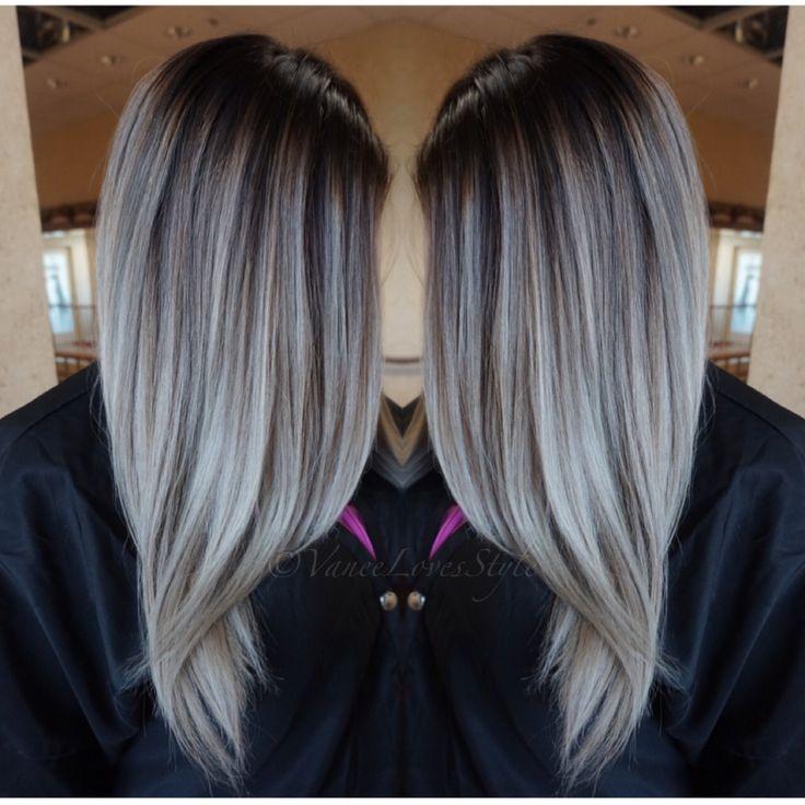 Trendy Hair Color Highlights Grey Hair Balayage Beauty Haircut