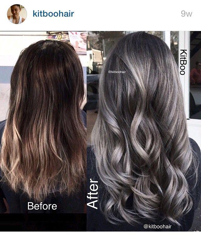 Trendy Hair Color Highlights Gunmetal Grey Hair Beauty