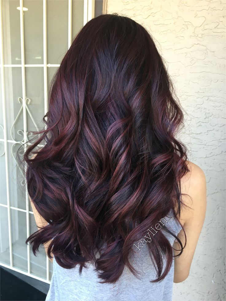 Black Hair With Mahogany Highlights Pictures Hair Color Ideas And