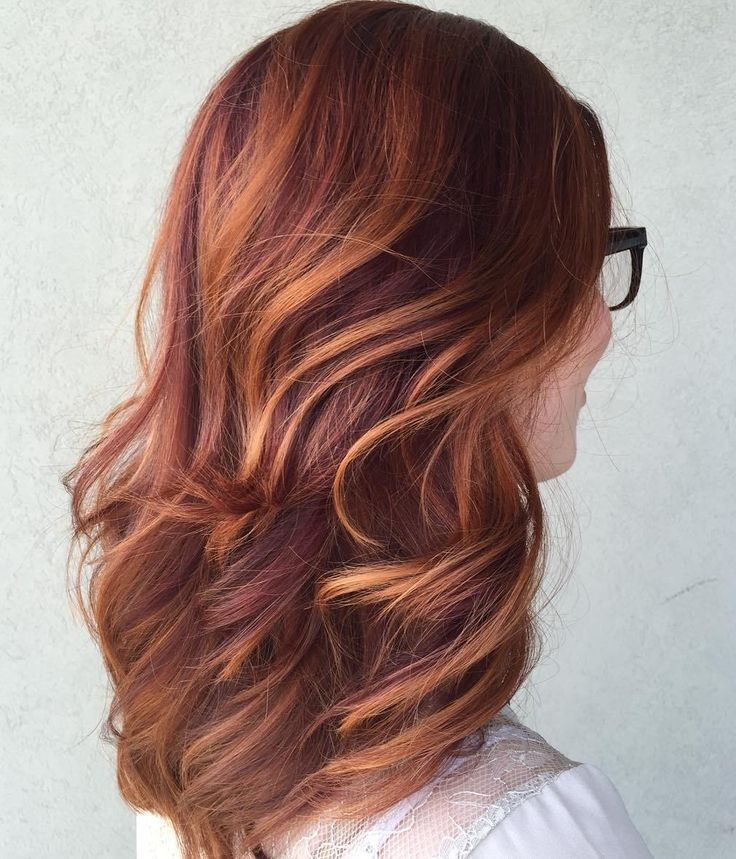 Trendy Hair Color Highlights Plumredhairwithcopper