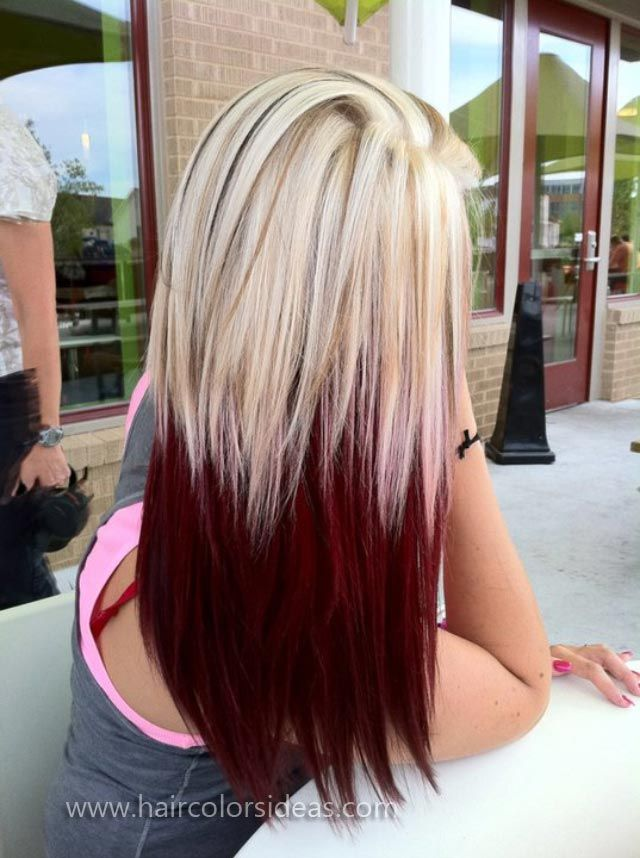 Trendy Hair Color Highlights Red Blonde With Highlights Omg