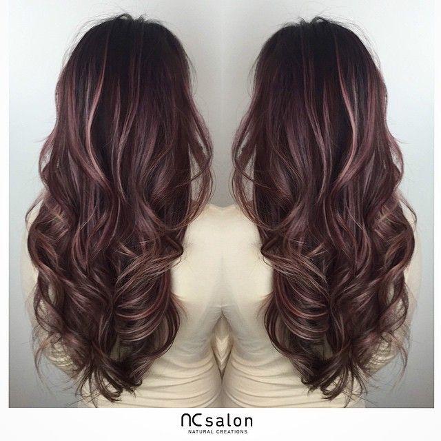 Trendy Hair Color Highlights Rose Pink Balayage Highlights