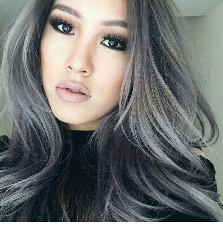 Trendy Hair Color Highlights Silvergrey Balayage Ombre Beauty