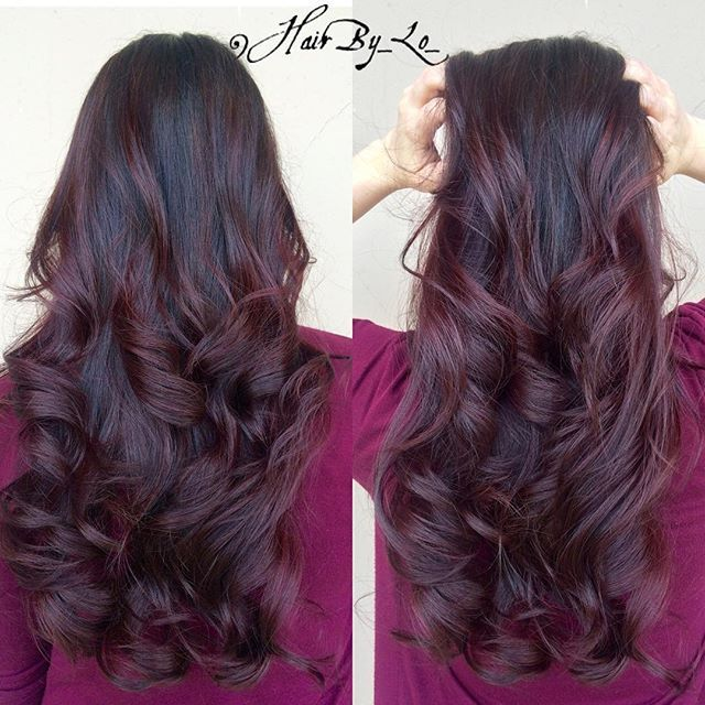 Trendy Hair Color Highlights Swooooon Over This Rich Redviolet