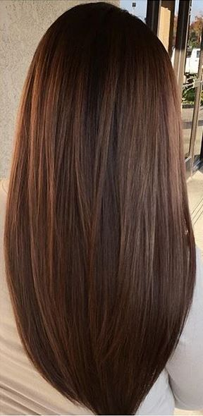 Trendy Hair Color - Highlights : cool brunette hair color with ...