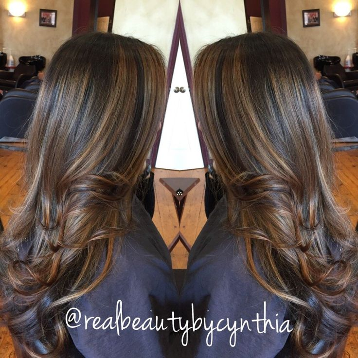 Trendy Hair Color Highlights Dark Brown Hair With Caramel Highlights