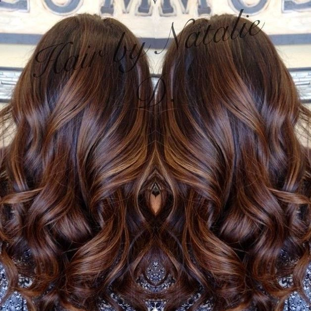 Trendy Hair Color Highlights Long Brown Hair With Caramel