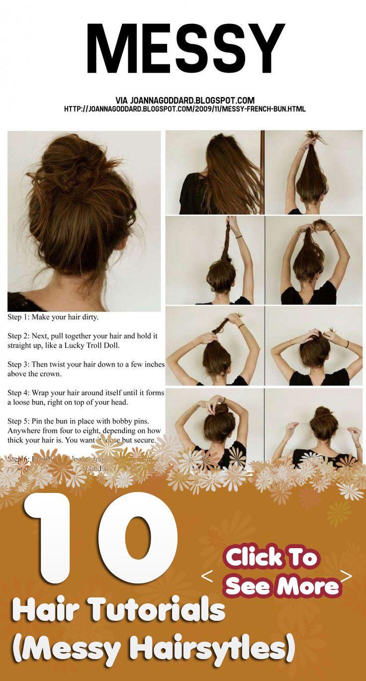 Hair Tutorials: Messy Hairsytles www.latestbobhair...