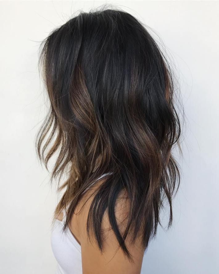 Trendy Ideas For Hair Color Highlights Black Hair With Subtle Brown Highlights Beauty Haircut Home Of Hairstyle Ideas Inspiration Hair Colours Haircuts Trends