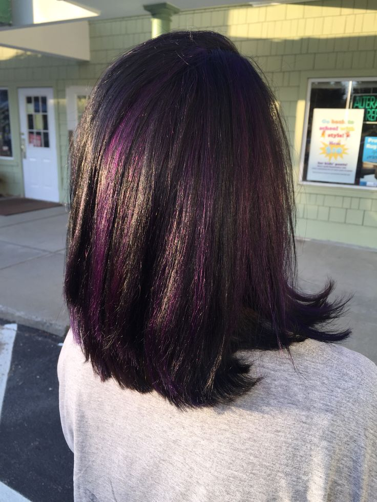 Trendy Ideas For Hair Color Highlights Black Hair With Purple
