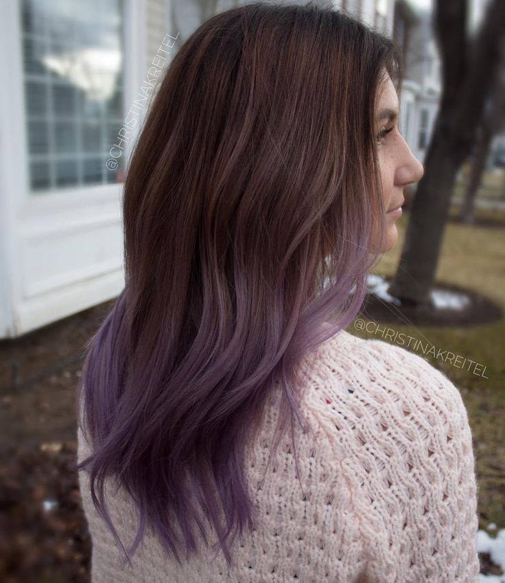 Trendy Ideas For Hair Color Highlights Brown To Ash Purple Ombre