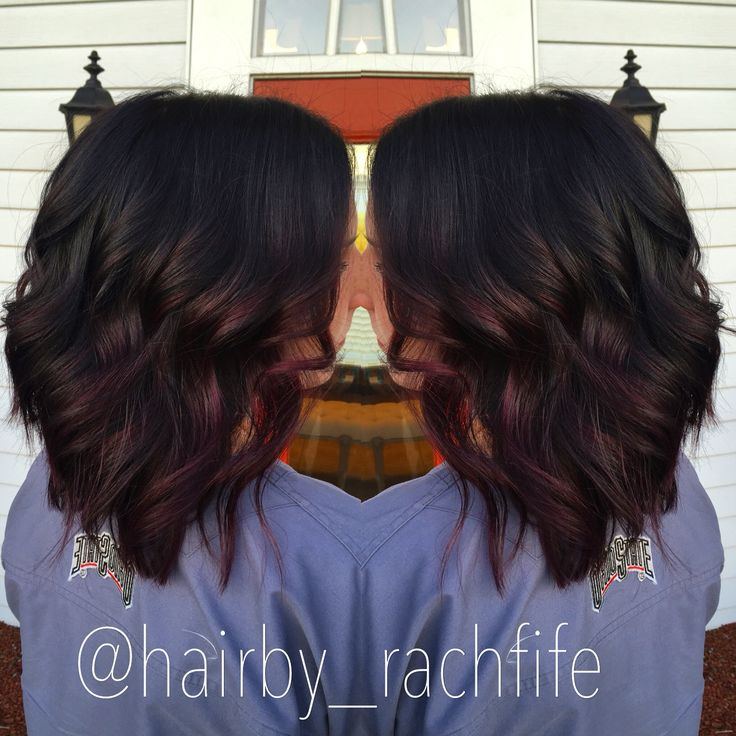 Trendy Ideas For Hair Color Highlights Deep Burgundy Ombre