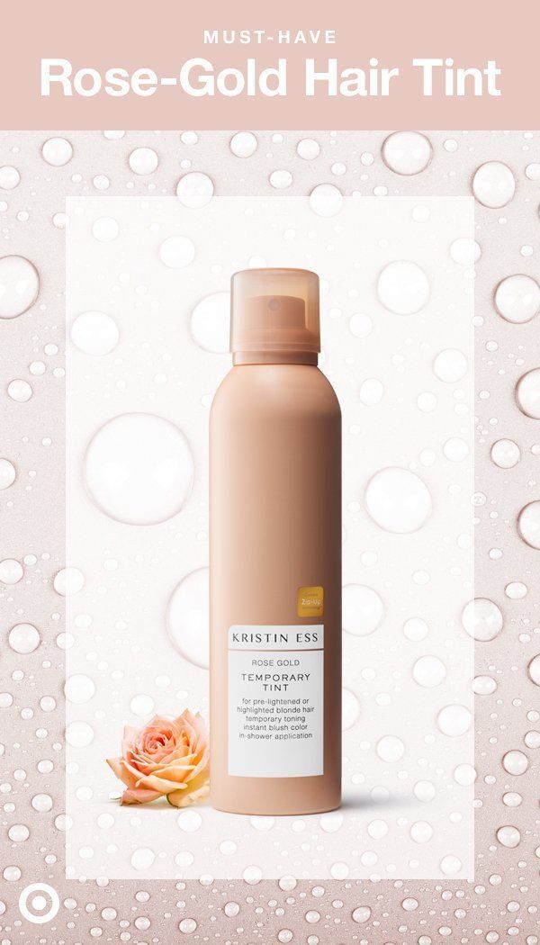 Looking for every day, festival hair? Enter, Kristin Ess Rose Gold Temporary Tin...