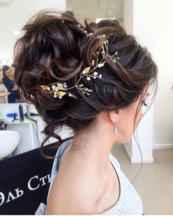 Bridal Hairstyles Elstile Messy Wedding Updo Hairstyle Deer