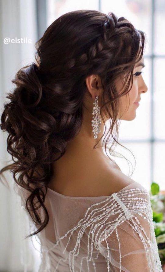 Elstile Wedding hairstyle for long hair