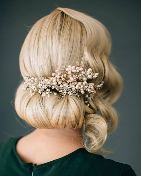 Hair and Makeup by Steph wedding updo hairstyle - Deer Pearl Flowers / www.deerp...