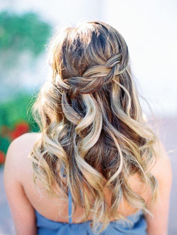 Bridal Hairstyles : Pretty waterfall braid wedding hairstyle - Deer ...