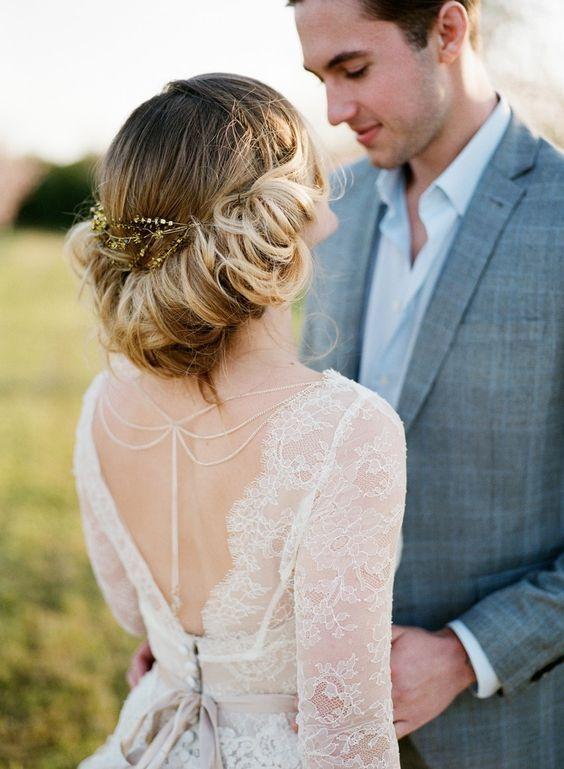 Romantic Springtime Bridal Updo via Archetype - Deer Pearl Flowers / www.deerpea...