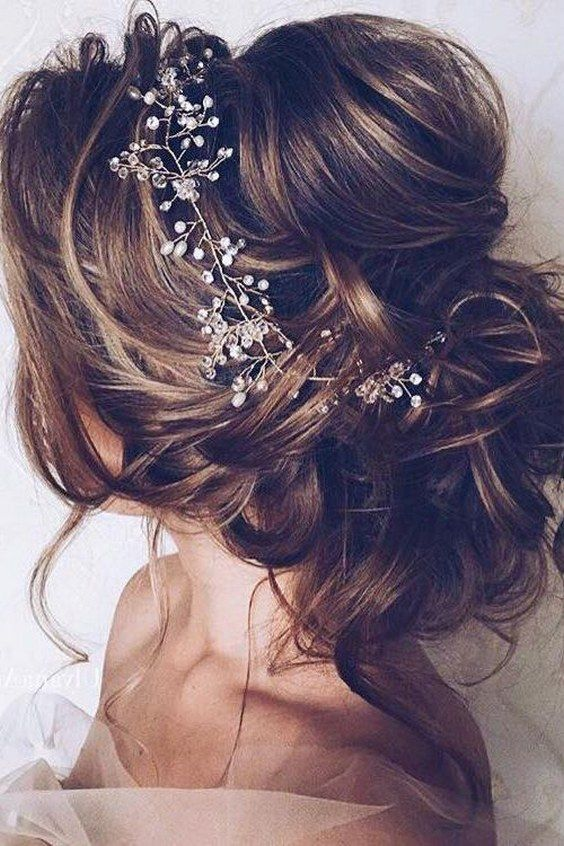 Bridal Hairstyles Romantic Wedding Updo Hairstyle Himisspuff