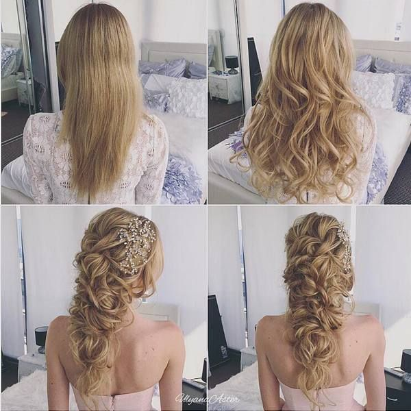 Wedding Hairstyles Ulyana Aster Long Bridal Hairstyles For